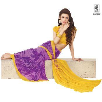 Party Wear Sari Kaju4715