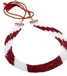 Buy silver alloy with gold plated stones sets Necklace online