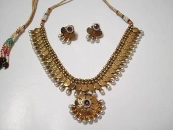 Antique Mahalaxmi Coin Necklace 002