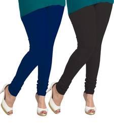 Buy navy blue and black leggings( pack of 2) plus-size-legging online