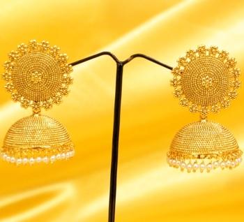 Fine Gold Look Pearl Jhumka's