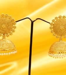 Buy Fine Gold Look Pearl Jhumka's jhumka online