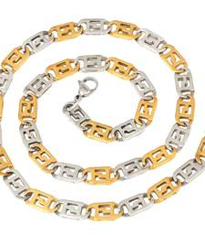 "Buy italian stainless steel puzzler two tone chain men 21"" men-pendant online"