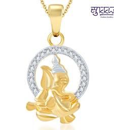 Buy Sukkhi Stylish Gold and Rhodium Plated CZ God pendants fashion-deal online