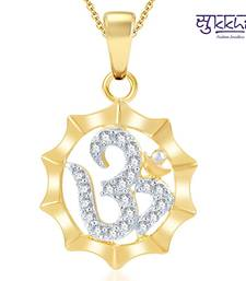 Buy Sukkhi Moddish Gold and Rhodium Plated CZ God pendants fashion-deal online