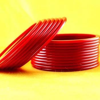 acrylic  plastic rajasthani bangle size-2.6,2.8