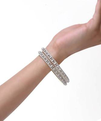 Diamond Look Zircon Bangle Set of 2