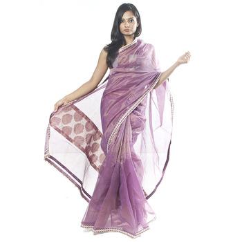 Purple Kota Saree