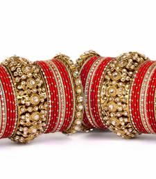 Buy Beautiful golden dot pattern bangle set for two hands bangles-and-bracelet online