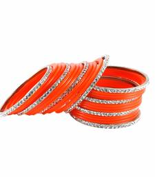 Buy Extra Large size Brass and Acrylic Bangle Color Orange bangles-and-bracelet online