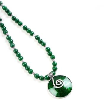 Green enamel and glass jade