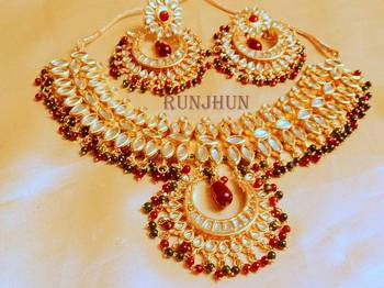 wedding kundan necklce set