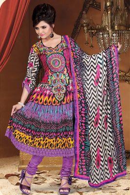 Printed Casual Bemberg Salwar Dress Material