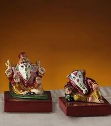 Buy Miniature Enamelled Metal Hand Painted Ganesh Murti Set ganesh-chaturthi-gift online