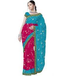 Buy Marvellous Ethnic Pure Chiffon Tie n Dye Saree Deepawali Gift 178 diwali-sarees-collection online