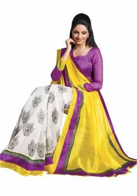 ISHIN Bhagalpuri Silk Multicolor Saree BCVIP-7751