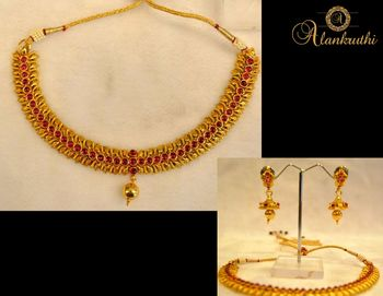 New Temple Jewellery Necklace Set 1