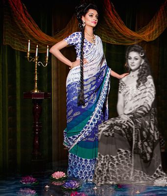Party Wear Designer Printed Saree Dyna785a