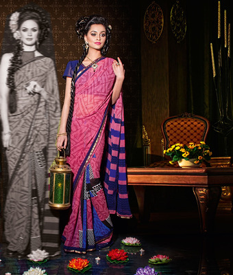 Party Wear Designer Printed Saree Dyna787c