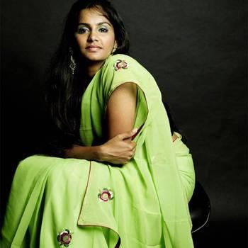 Natures Embroidery Saree | Green