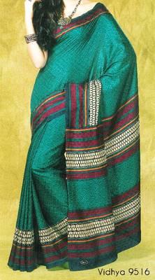 Fancy Cotton Saree Sari - Printed Saree - With blouse - 902631 9516