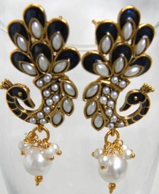 Unique Meenakari Peacock Earrings