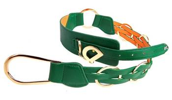 Just Women - Forest Green Womens Leather Belt