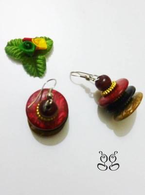 Handicraft Wooden Earrings