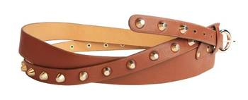 Saddle Brown Womens Leather Belt