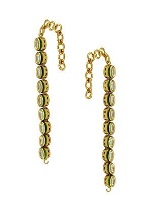 Clear Vilandi Kundan Ear Chain Jewellery for Women - Orniza