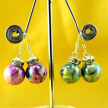 moti pearl beads earing