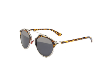 Half mirrored Leopard Print Sunglasses