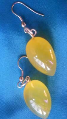 Yellow Stone Earrings-Aliff Lailaa-040161
