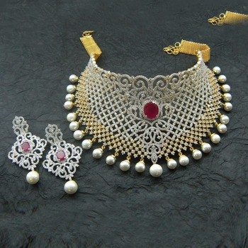 american diamonds necklace-sets