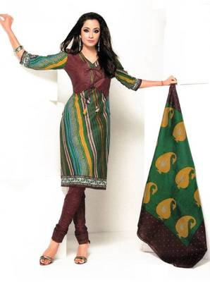 Dress material cotton designer prints unstitched salwar kameez suit d.no 1835