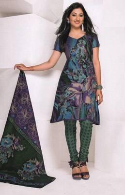 Dress material cotton designer prints unstitched salwar kameez suit d.no 1850