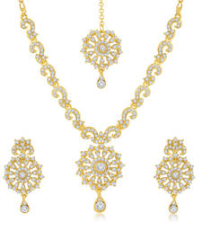 Buy Sparkling 2 Pieces Necklace Set Combo jewellery-combo online