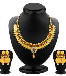 Buy Ravishing Gold Plated  Temple Jewellery Coin Necklace Set for Women necklace-set online