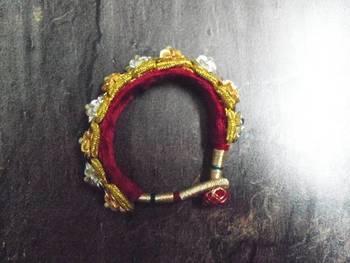 Signifying Jewellery Rajasthani Royal Kada in yellow white for women