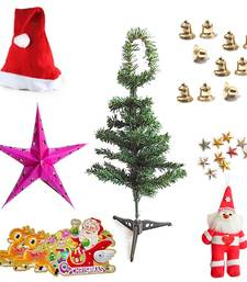 Buy Santa Claus Christmas Tree Stars n Bells Xmas Gift 101 christmas-decoration online