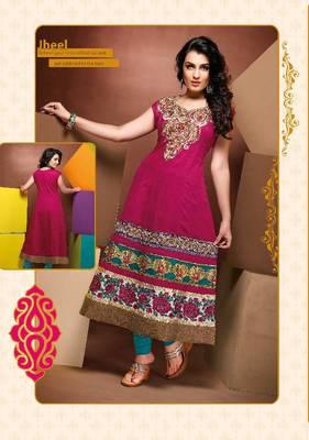 ISHIN Cotton Pink kurti Jheel_M