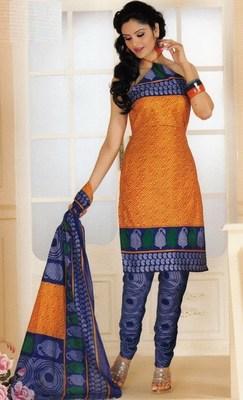 Cotton dress material elegant designer unstitched salwar suit d.no 1430