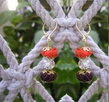 dazzling thread danglers- orange chocolate