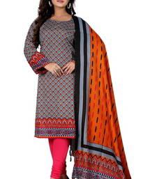 Buy grey color cottan kurti with duppata kurtas-and-kurti online