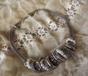 Silver Ring Necklace from our 'Steam Punk' Collection