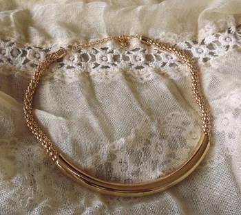 Trendy Golden Tube Necklace