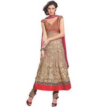 Sahiba Pure Georgette Cream Color Designer Dress Material Anar3704