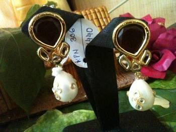 kundan with pearl