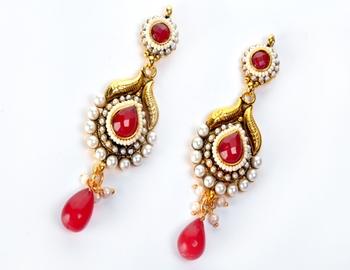 Delicate Polki Earring