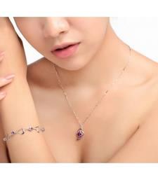 Buy lavender encrusted pendant necklace Necklace online
